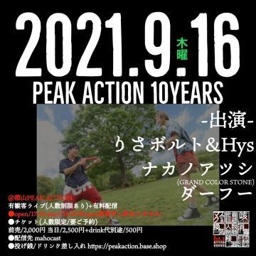 PEAK ACTION 10YEARS